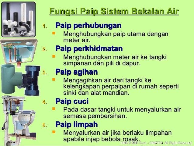 Bahagian Tangki Simpanan Air Air ke Tangki Simpanan Dan