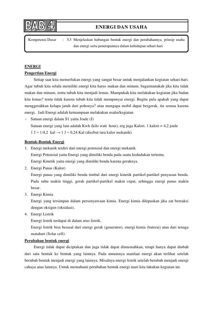 Bab 4 usaha dan energi