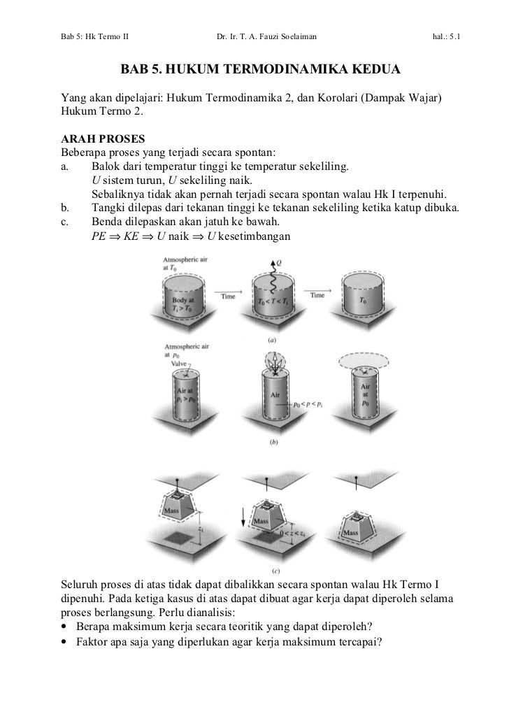 Bab 5 hukum termodinamika kedua(2)