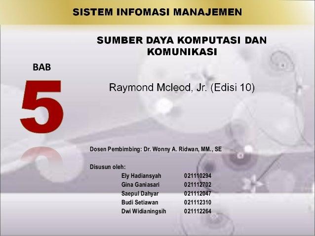 SIM Bab 5 sumber daya komputasi dan komunikasi