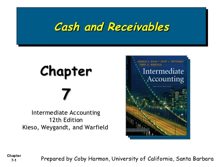 Cash and Receivables Chapter  7 Intermediate Accounting 12th Edition Kieso, Weygandt, and Warfield   Prepared by Coby Harm...
