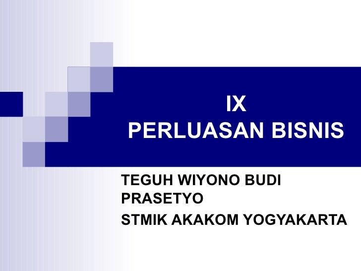 PERLUASAN BISNIS