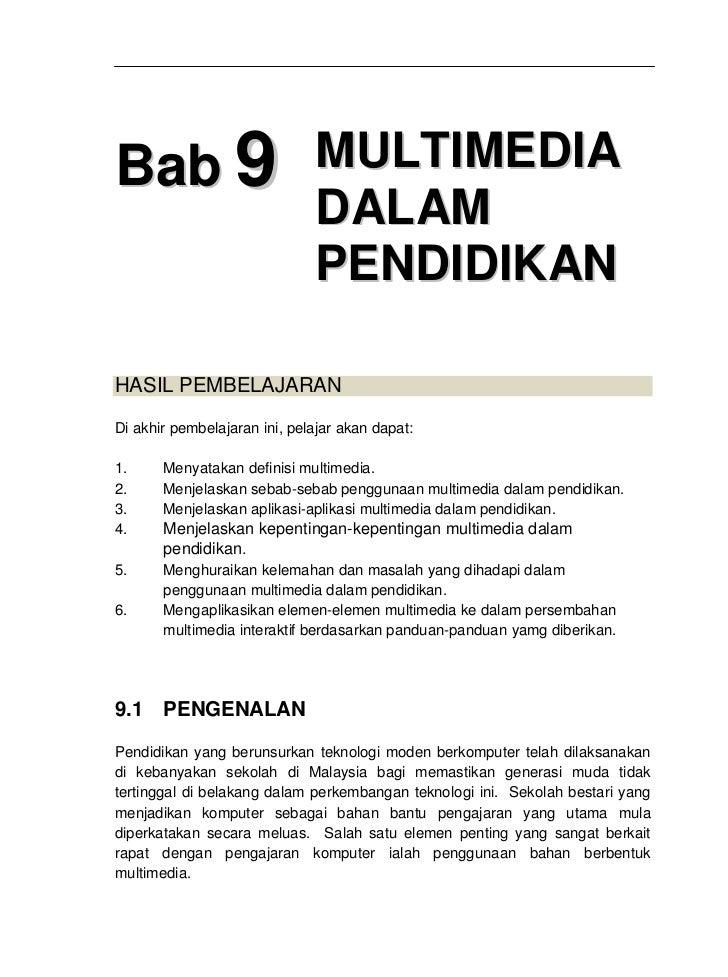 Bab9 multimedia dalam pendidikan