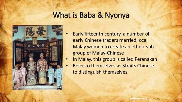 """taboos in baba nyonya marriages A traditional jawi peranakan wedding (source: harian metro)  peranakan is  most commonly used to refer to those of chinese descent (baba nyonya),  have  strong beliefs in """"pantang larang"""" (taboos and superstitions."""