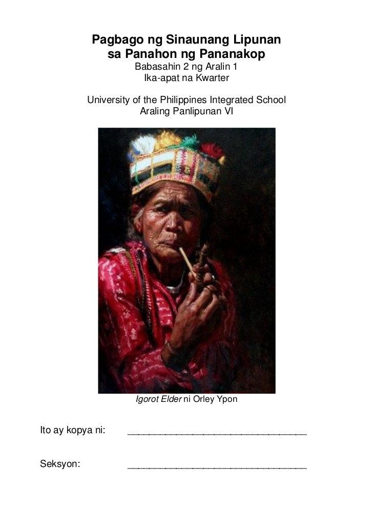 Struktura ng Lipunang Kolonyal sa Ilalim ng Espanya at mga Malayang