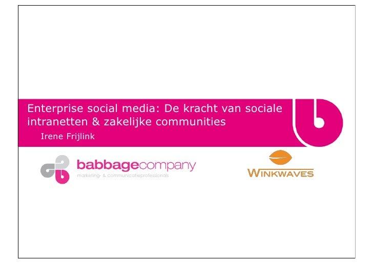 De kracht van Enterprise Social Media