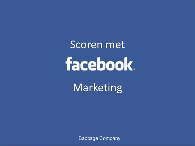 Scoren metMarketing Babbage Company