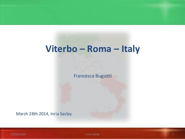 Babel talk 2014 03 28, Italy, Francesca Bugiotti