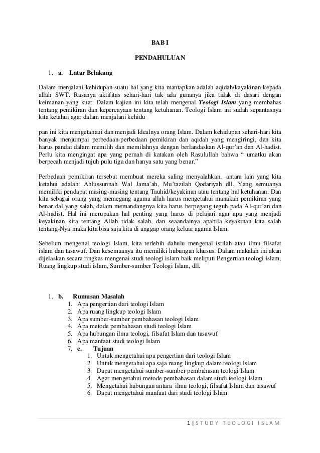 makalah teologi islam