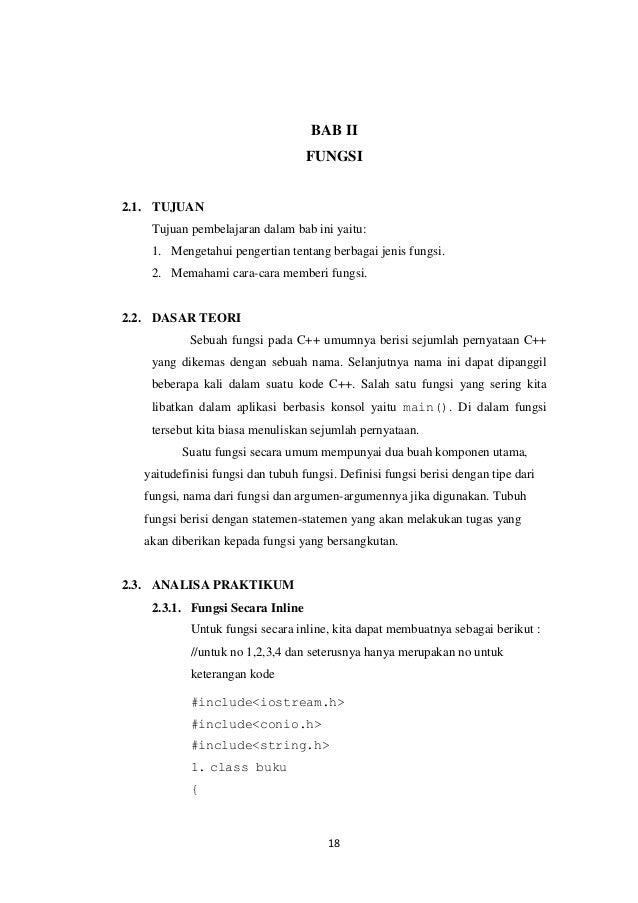 BAB II FUNGSI  2.1. TUJUAN Tujuan pembelajaran dalam bab ini yaitu: 1. Mengetahui pengertian tentang berbagai jenis fungsi...