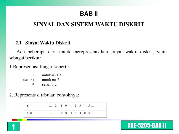 Bab ii   discrete time