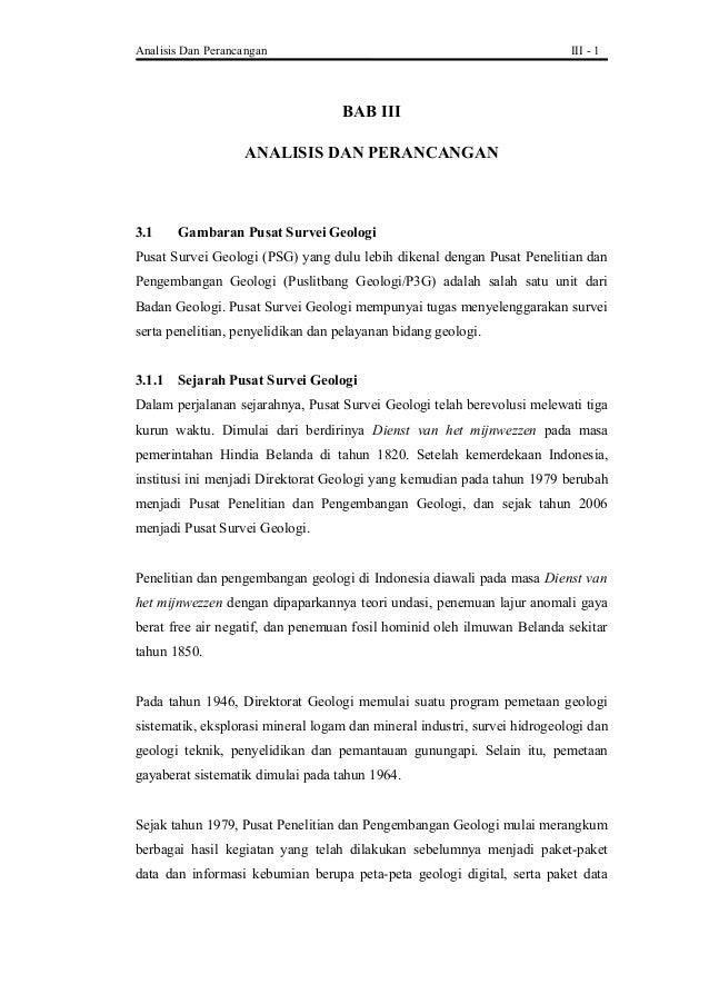 Bab Iii Tugas Akhir Sistem Informasi Geografis Lokasi Contoh Dan Tit