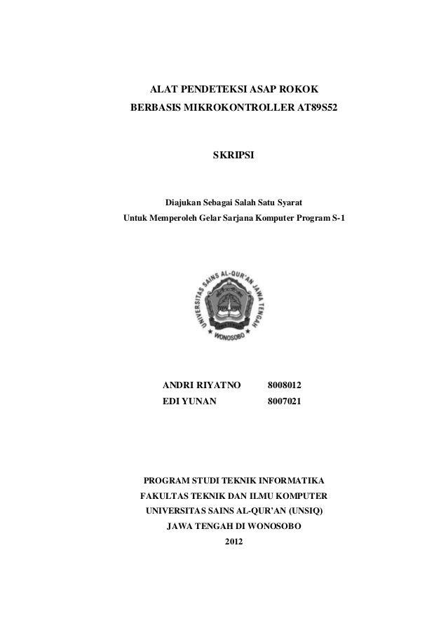 "alat pendeteksi asap rokok at89s52 in""UNSIQ 2012"