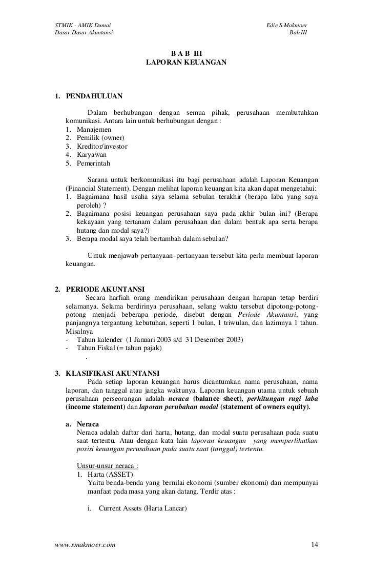 Bab iii laporan keuangan