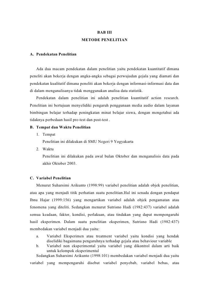 BAB III                                METODE PENELITIAN   A. Pendekatan Penelitian      Ada dua macam pendekatan dalam pe...