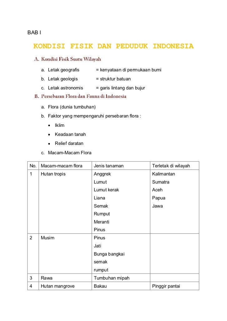 kondisi fisik dan penduduk indonesia