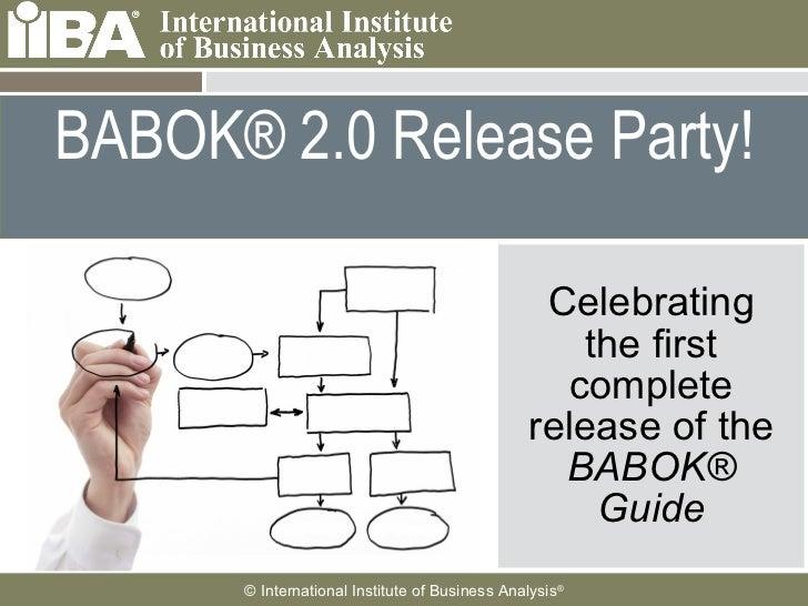 BABOK® Release Party Webinar