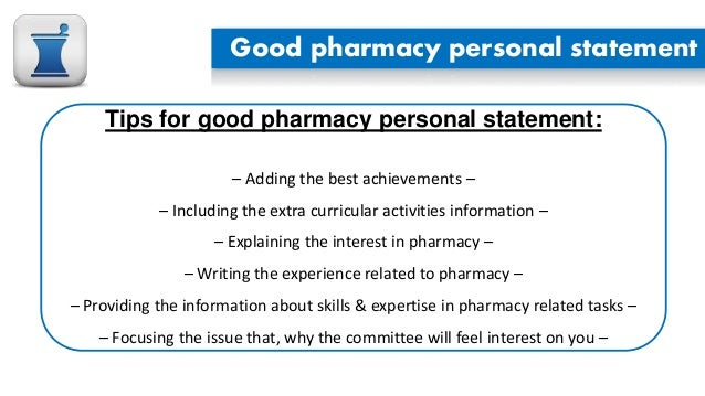 How should I write my Personal Essay to becoming a pharmacist?