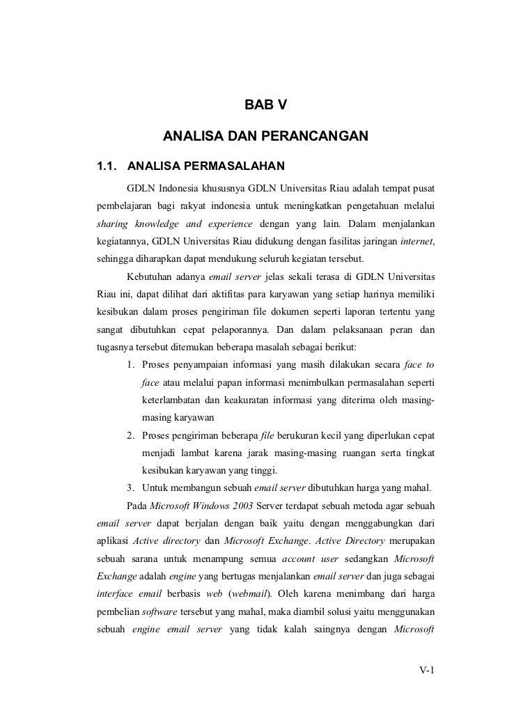 BAB V               ANALISA DAN PERANCANGAN1.1. ANALISA PERMASALAHAN       GDLN Indonesia khususnya GDLN Universitas Riau ...
