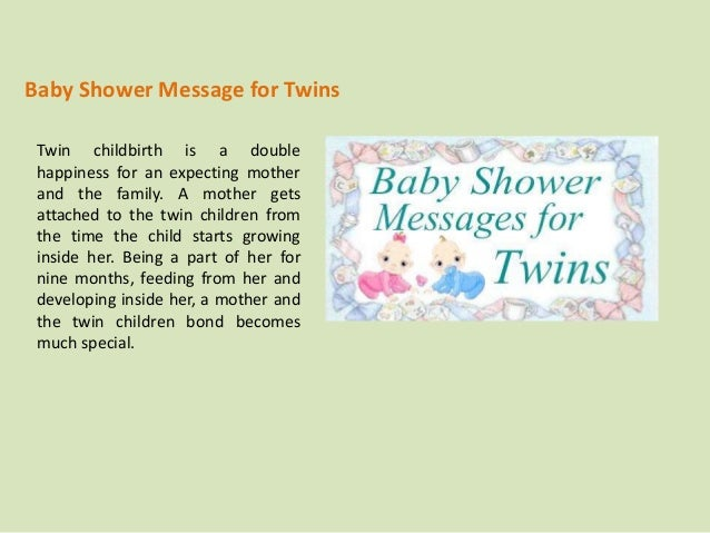 baby shower message for twins twin childbirth is a double