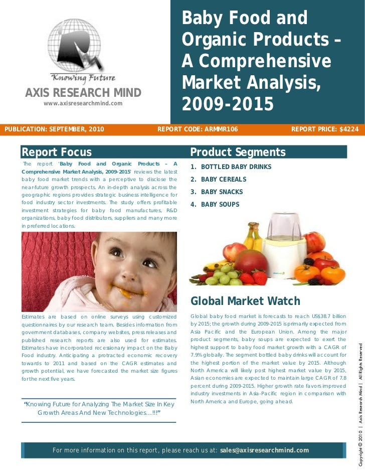 Baby Food And Organic Products Comprehensive Market Analysis 728 Cb Garment Study