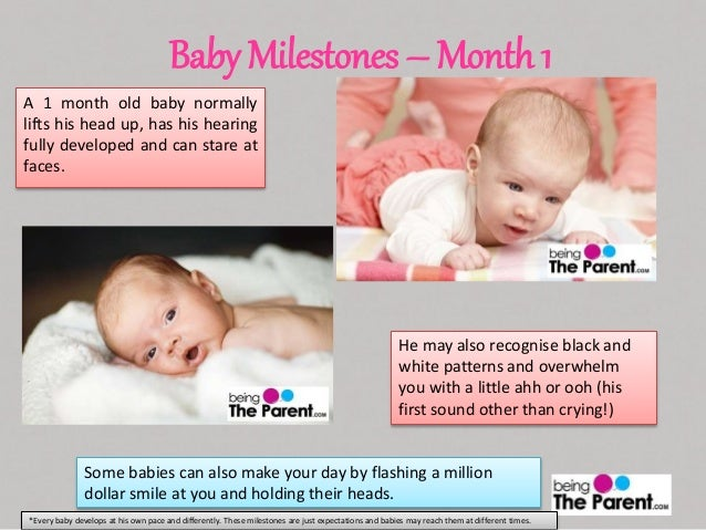 Baby Milestones 1 Month
