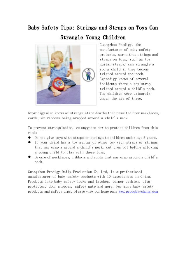 Toys Safety Tips Baby Safety Tips Strings And