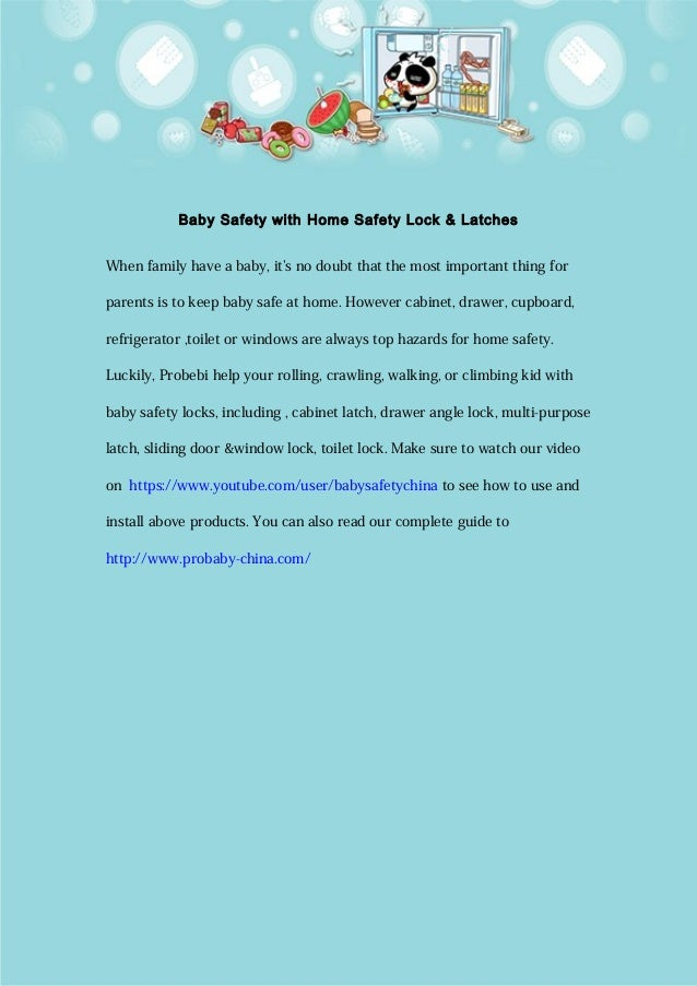Baby safety with home safety lock & latches.