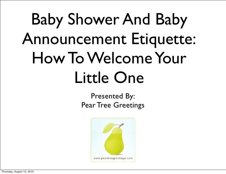 Baby Shower And Baby                Announcement Etiquette:                 How To Welcome Your                       Litt...