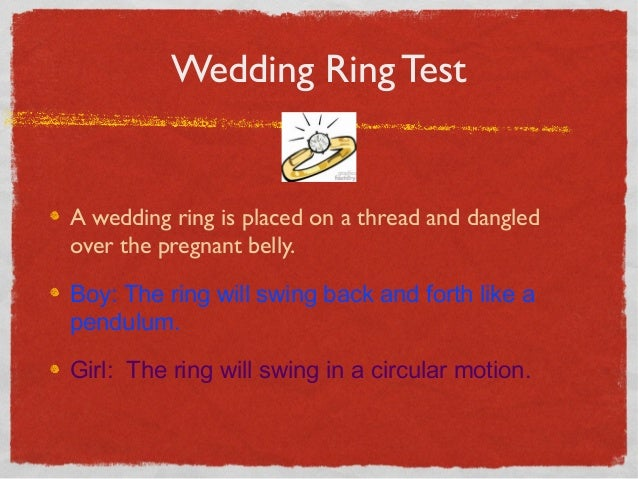 Gold New Wedding Rings Baby Gender Prediction Wedding Ring Test