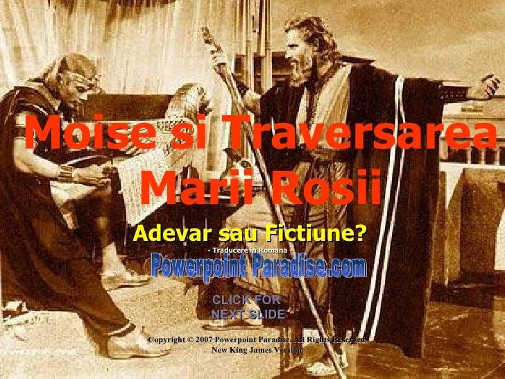 Moise Traversarea Marii Rosii