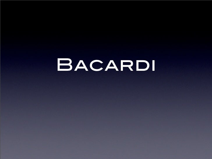 Bacardi Webredesign