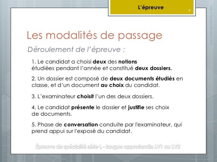Présentation Baccalauréat Langues Vivantes (série L - LVA)