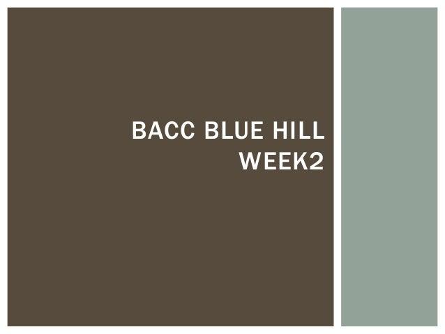 BACC BLUE HILL       WEEK2