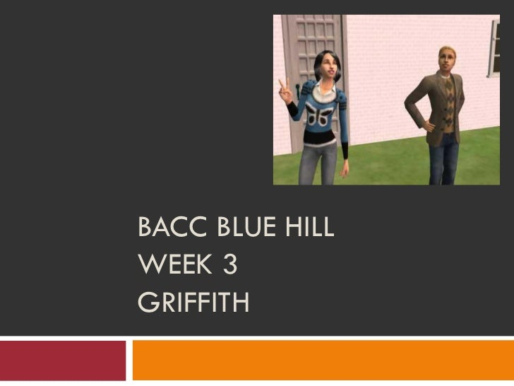 BACC BLUE HILLWEEK 3GRIFFITH