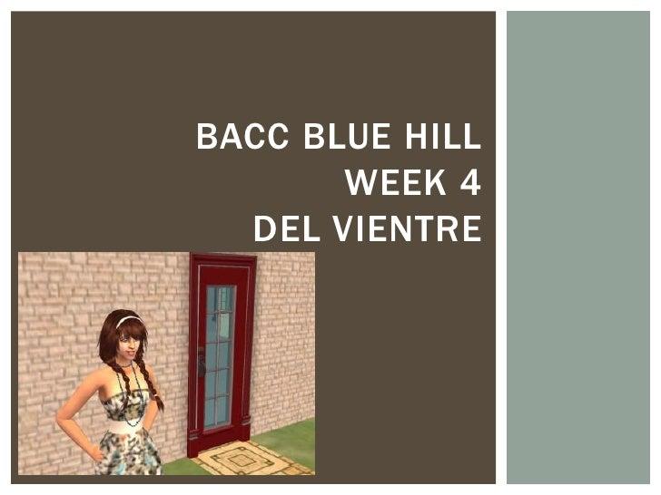 BACC BLUE HILL       WEEK 4  DEL VIENTRE