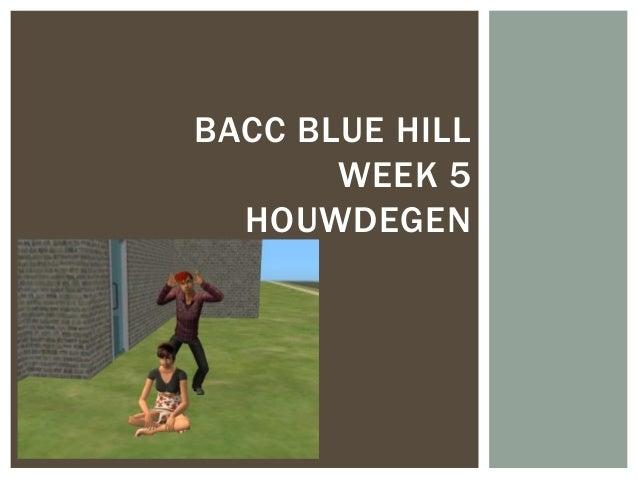 BACC BLUE HILL       WEEK 5  HOUWDEGEN