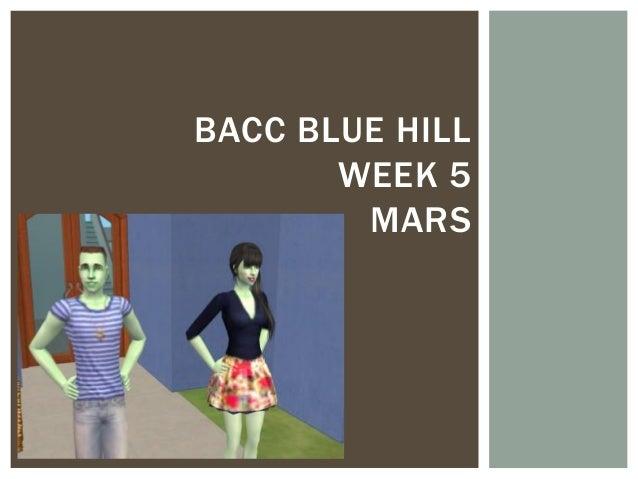 Bacc Blue Hill week 5 Mars