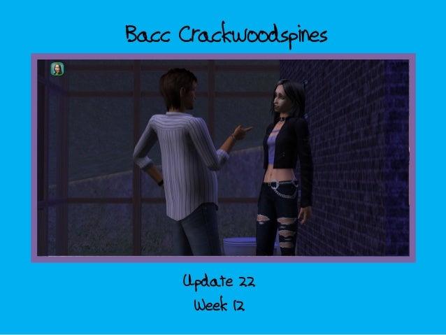 Bacc Crackwoodspines; update 22 - week 12
