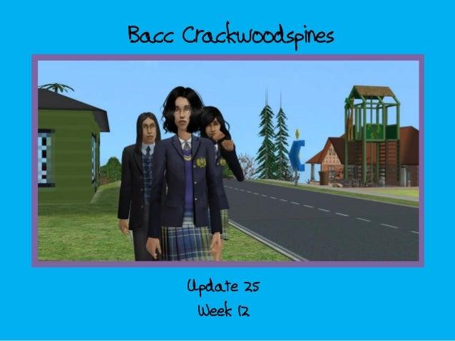 Bacc Crackwoodspines; update 25 - week 12