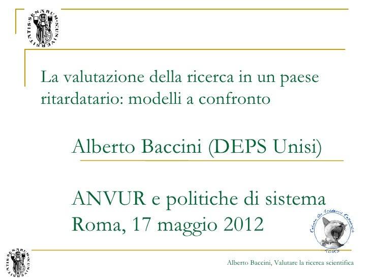 Seminario di Alberto Baccini