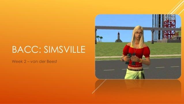 BaCC: Simsville - Week 2: van der Beest