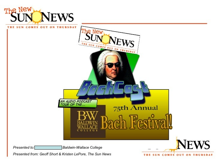 """BachCast"" presentation"