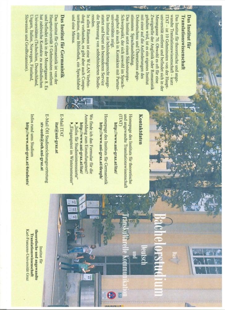 Bachelorstudium deutsch und transkulturelle kommunikation
