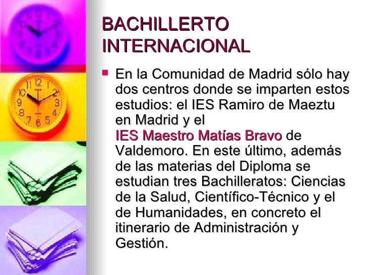 Bachillerato internacional - Oficina de empleo valdemoro ...