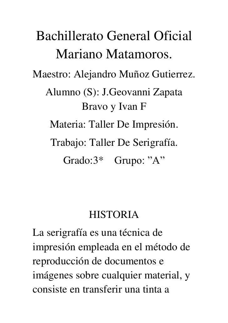 Bachillerato general oficial mariano matamoros de geovanni original