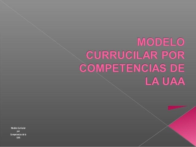 Modelo Curricular por Competencias de la UAA