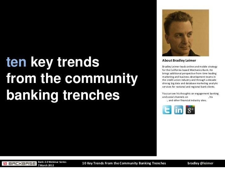 10 Key Trends From the Banking Trenches