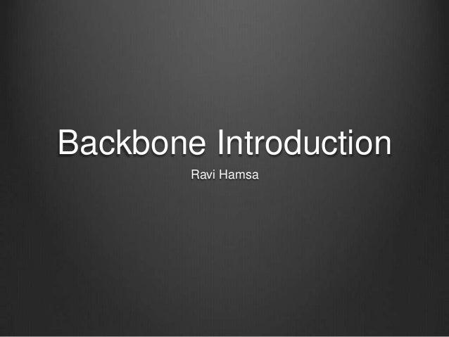 Backbone introduction