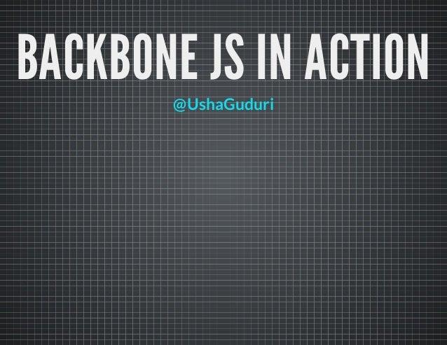Backbone js in action